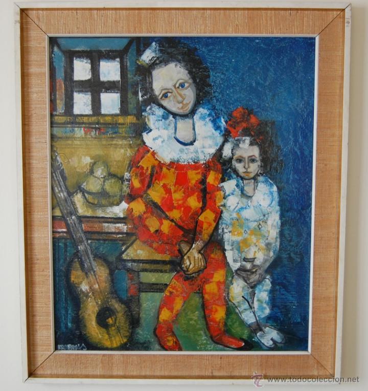 JORDI BONÁS ( *1937, BARCELONA ) - PINTURA EXPRESIONISTA (Arte - Pintura - Pintura al Óleo Moderna sin fecha definida)