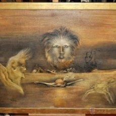 Arte: Mª JOSEFA TAPIES (HERMANA DE ANTONI TAPIES) OLEO SOBRE TELA. COMPOSICIÓN ONÍRICA. Lote 54563232