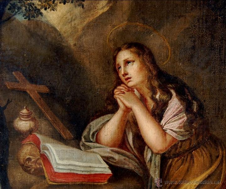 STEFANO TOFANELLI ( ITALIA, 1752-1812 ) - MAGDALENA PENITENTE (Arte - Pintura - Pintura al Óleo Antigua siglo XVIII)