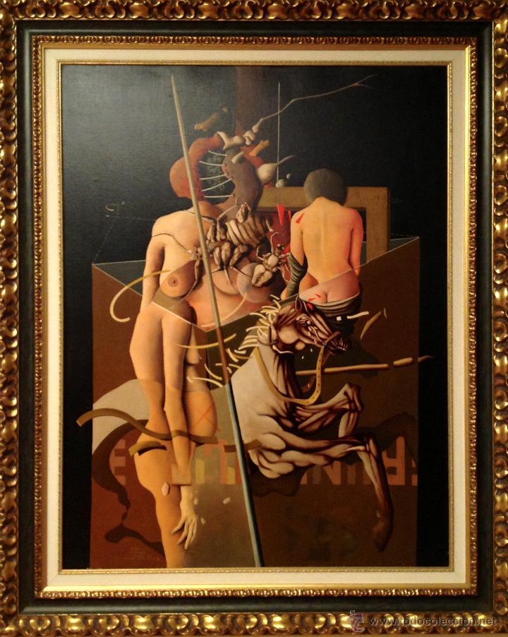 CUADRO ÓLEO DEL PINTOR RICARD JORDÀ ORIGINAL PIEZA DE COLECCIÓN (Arte - Pintura - Pintura al Óleo Moderna sin fecha definida)