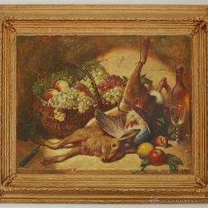 Arte: RENÉ LOUIS CHRÉTIEN (1867-1945) FRANCIA - BODEGÓN DE CAZA. Lote 32576423