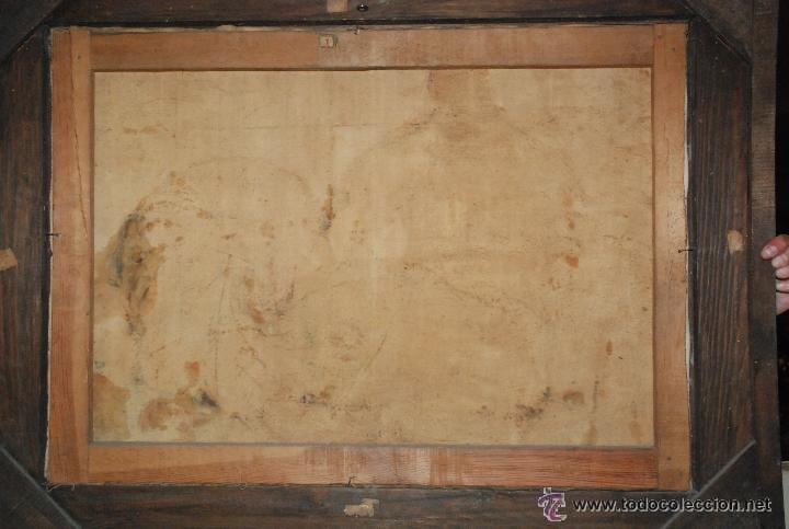 Arte: BODEGÓN CON MARCO ORIGINAL EN MADERA TALLADA - Firmado: A.Bosch 1943 - Foto 6 - 51007002
