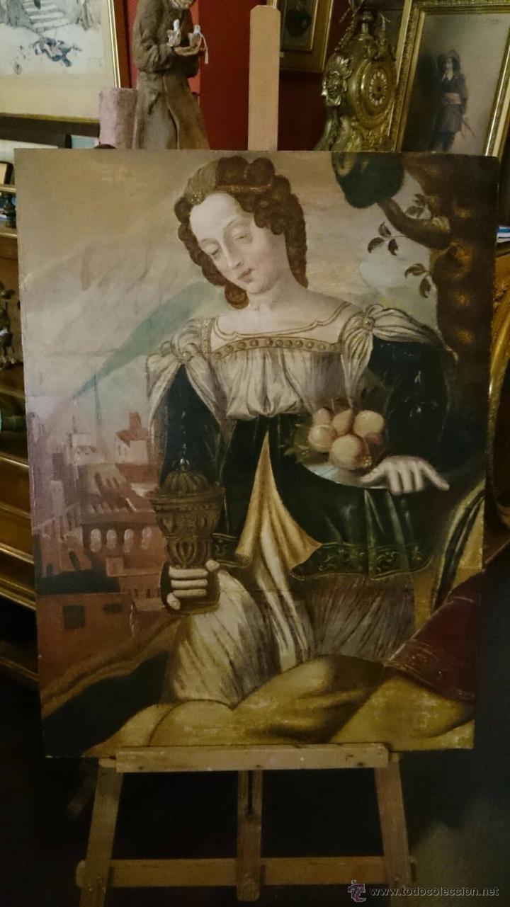 OLEO SOBRE TABLA DEL CIRCULO DE JUAN DE PEREDA (Arte - Pintura - Pintura al Óleo Antigua siglo XV)