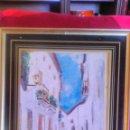 Arte: PRECIOSO OLEO SOBRE PAPEL,CALLE ANDALUZA,FIRMADO PERO ILEGIBLE AÑO 57. Lote 54719196