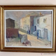 Arte: OLEO FIRMADO Y ENMARCADO .INTERESANTE. ENVIO CERTIFICADO INCLUIDO EN EL PRECIO.. Lote 54723485