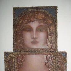 Arte: DOMINGO VEGA. ÓLEO SOBRE TABLA. DIPTICO. TENERIFE. CANARIAS. Lote 54737568