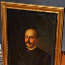 Arte: FELIX ALARCON BRENES (SEVILLA, CIRCA, 1860 - ACTIVO EN PARÍS EN 1900) OLEO TELA. RETRATO CABALLERO. Lote 54760570