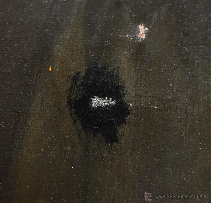 Arte: FELIX ALARCON BRENES (Sevilla, Circa, 1860 - Activo en París en 1900) OLEO TELA. RETRATO CABALLERO - Foto 7 - 54760570