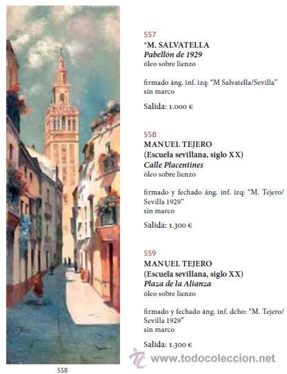 Arte: MANUEL TEJERO ( Escuela Sevillana del siglo XX ) - Vista de la Alhambra - Granada 1945 - Foto 9 - 32505156