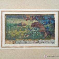 Arte: INTERESANTE OLEO SOBRE LIENZO IMPRESIONISTA, FECHADO 1891, GRAN CALIDAD. Lote 54779223