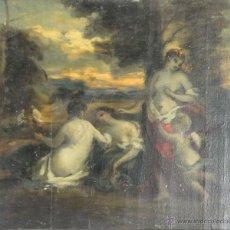 Arte: N1-020. ESCENA MITOLOGICA. BOCETO. OLEO SOBRE MADERA. SIGLO XVIII-XIX.. Lote 62034690