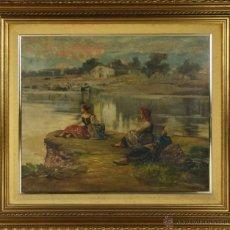 Arte: E4-033 - CAMPESINAS - MARIANO BARBASAN LAGUERUELA (1864-1924) - OLEO/LIENZO - SIGLO XIX - XX. Lote 50072993
