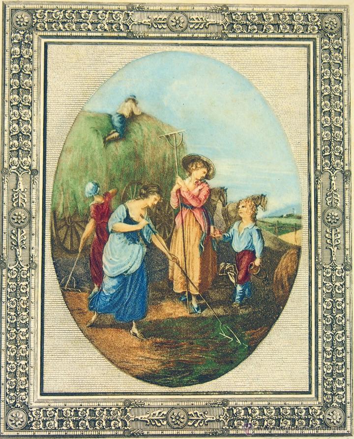 GRABADO. JUNE.DE F. BARTOLOZZI.DE UN ORIGINAL DE W HAMILTON.INGLATERRA XVIII-XIX (Arte - Pintura - Pintura al Óleo Antigua siglo XVIII)