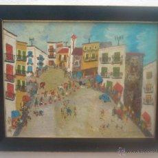 Arte: PLAZA DE PUEBLO-LANCHA PACHECO-NAIF. Lote 54807955