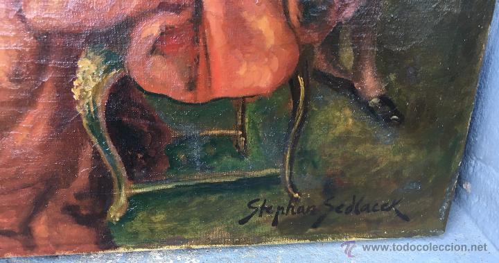 Arte: August Stephan Sedlacek (1868-1936) Pintor Austríaco - Óleo sobre tela - Foto 4 - 54843310