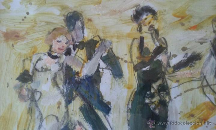 Arte: TANGO PASION, OLEO ACRILICO SOBRE PAPEL, AGUILAR MORÈ, 41X31CM SIN ENMARCAR - Foto 2 - 54844001