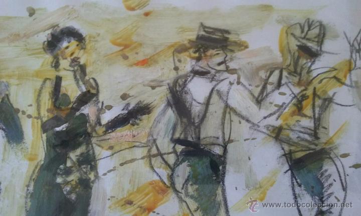 Arte: TANGO PASION, OLEO ACRILICO SOBRE PAPEL, AGUILAR MORÈ, 41X31CM SIN ENMARCAR - Foto 3 - 54844001
