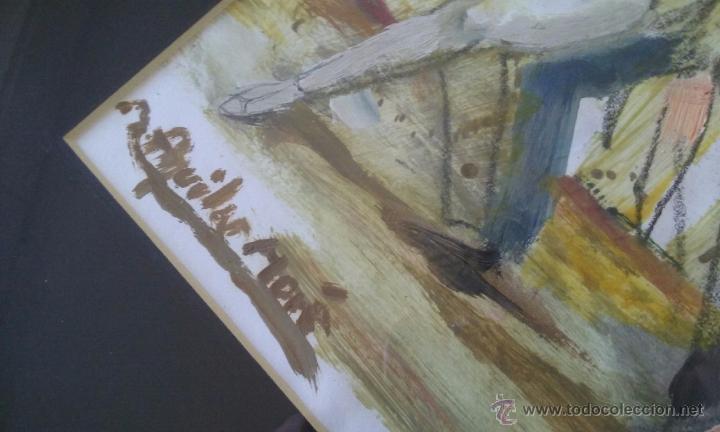 Arte: TANGO PASION, OLEO ACRILICO SOBRE PAPEL, AGUILAR MORÈ, 41X31CM SIN ENMARCAR - Foto 6 - 54844001