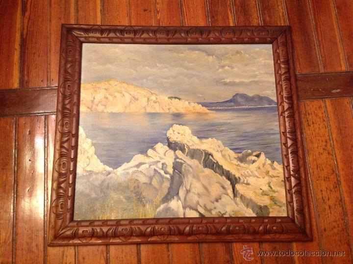 CUADRO OLEO SOBRE LIENZO MARINA (Arte - Pintura - Pintura al Óleo Moderna siglo XIX)