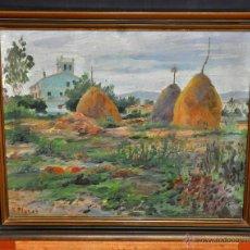 Arte: FRANCESC PLANAS DORIA (SABADELL, 1879 - 1955) OLEO SOBRE CARTÓN DE LOS AÑOS 30. VISTA RURAL. Lote 54886257