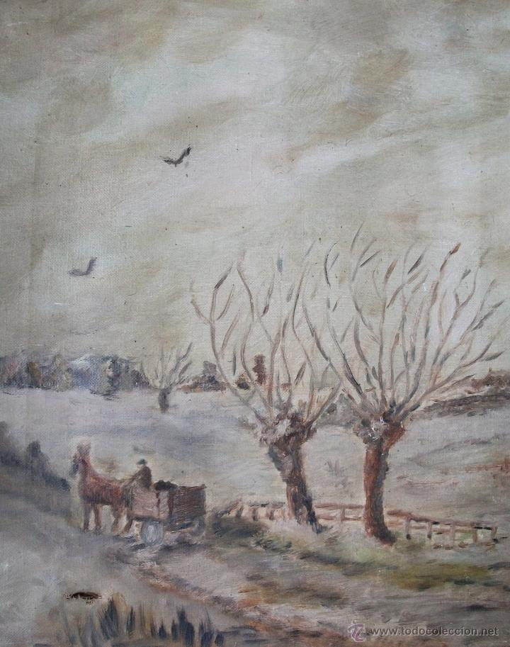 Arte: Oleo sobre lienzo s.XIX - Foto 3 - 36418811
