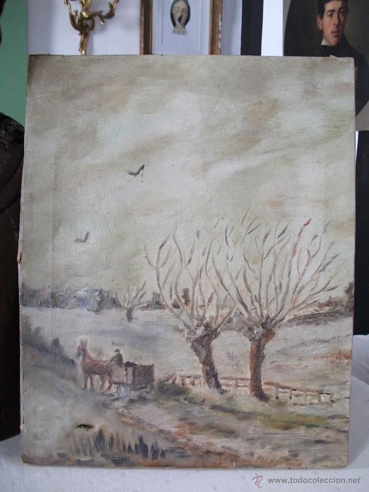 Arte: Oleo sobre lienzo s.XIX - Foto 4 - 36418811