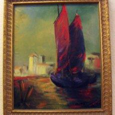 Arte: OLEO FIRMADO VAN DER VERDEN 1948. Lote 55001606