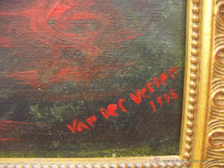 Arte: Oleo firmado Van Der Verden 1948 - Foto 6 - 55001606