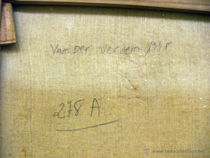 Arte: Oleo firmado Van Der Verden 1948 - Foto 9 - 55001606