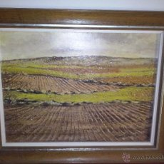Arte: OLEO SOBRE TABLA DEL PINTOR ARAGONES FERRER SANCHIS.MUCHA MATERIA EN SU PINTURA. Lote 55006237