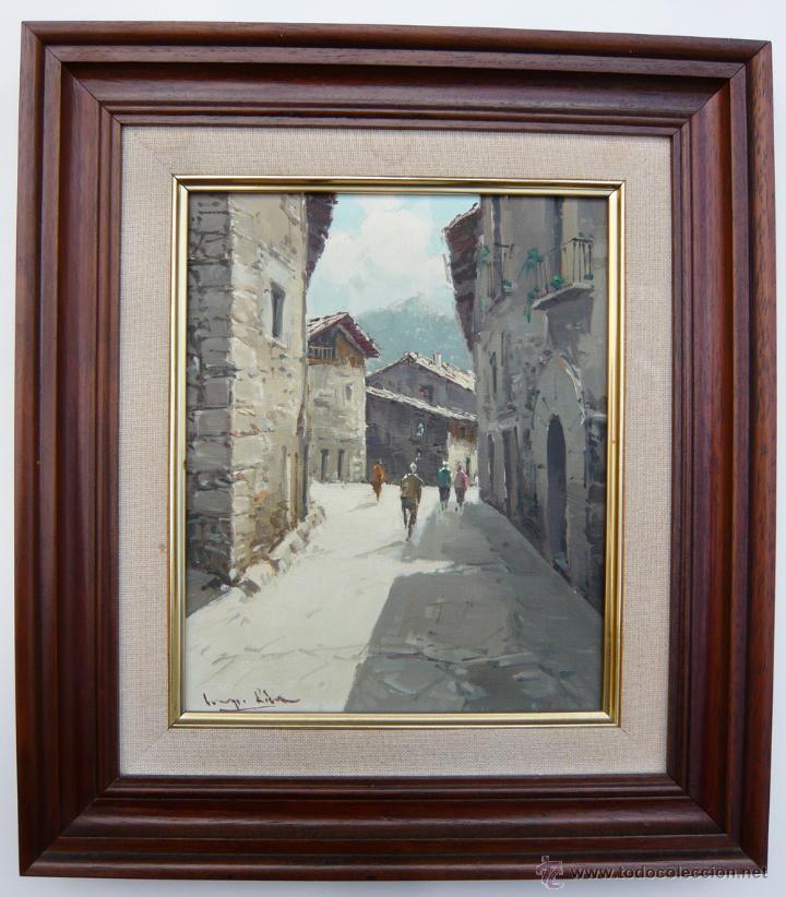 vista de rupit (barcelona) / pintura original a - Comprar Pintura al ...