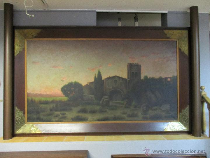 IMPRESIONANTE ÓLEO SOBRE TELA - CON ESPECTACULAR MARCO - COPIA DE URGELL, DE J. DE SITGAR - 1910 (Arte - Pintura - Pintura al Óleo Moderna siglo XIX)
