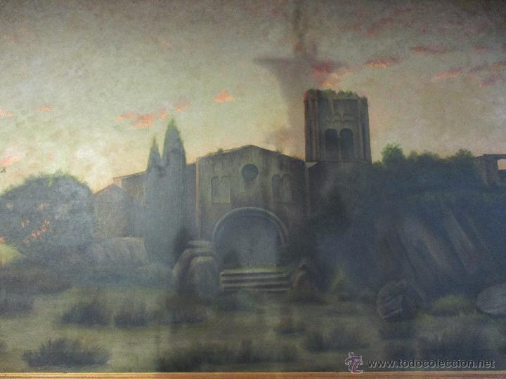 Arte: Impresionante Óleo sobre tela - con espectacular marco - Copia de Urgell, de J. de Sitgar - 1910 - Foto 2 - 55100313