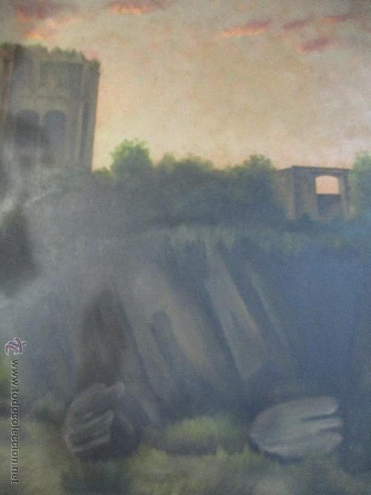 Arte: Impresionante Óleo sobre tela - con espectacular marco - Copia de Urgell, de J. de Sitgar - 1910 - Foto 3 - 55100313