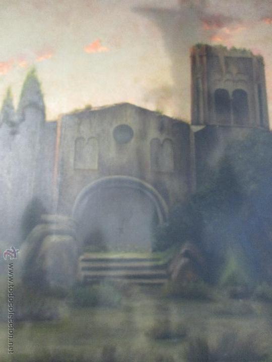 Arte: Impresionante Óleo sobre tela - con espectacular marco - Copia de Urgell, de J. de Sitgar - 1910 - Foto 4 - 55100313