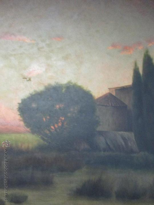 Arte: Impresionante Óleo sobre tela - con espectacular marco - Copia de Urgell, de J. de Sitgar - 1910 - Foto 5 - 55100313