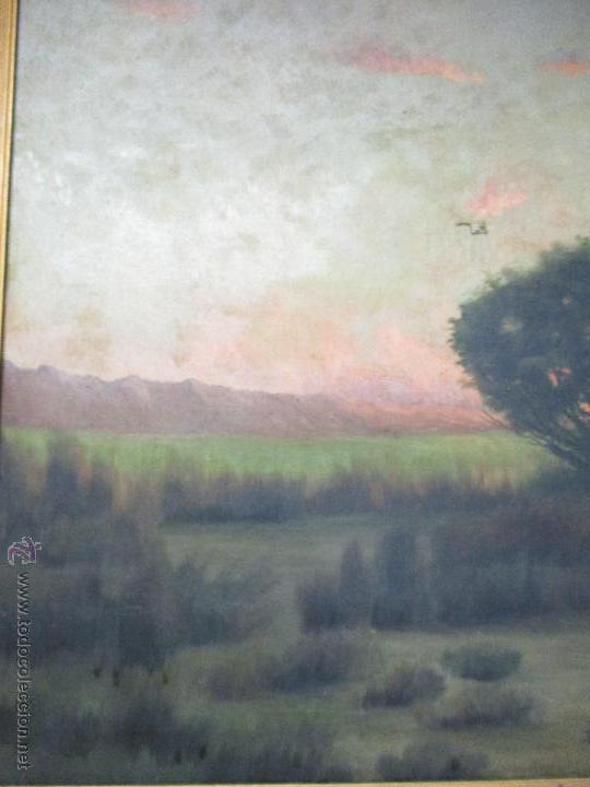 Arte: Impresionante Óleo sobre tela - con espectacular marco - Copia de Urgell, de J. de Sitgar - 1910 - Foto 6 - 55100313