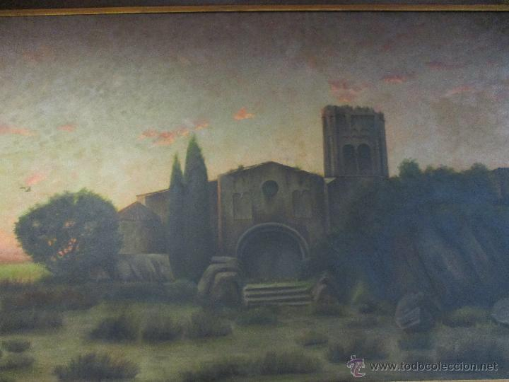 Arte: Impresionante Óleo sobre tela - con espectacular marco - Copia de Urgell, de J. de Sitgar - 1910 - Foto 7 - 55100313