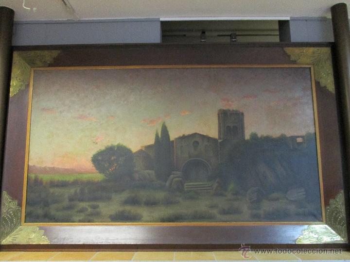 Arte: Impresionante Óleo sobre tela - con espectacular marco - Copia de Urgell, de J. de Sitgar - 1910 - Foto 9 - 55100313