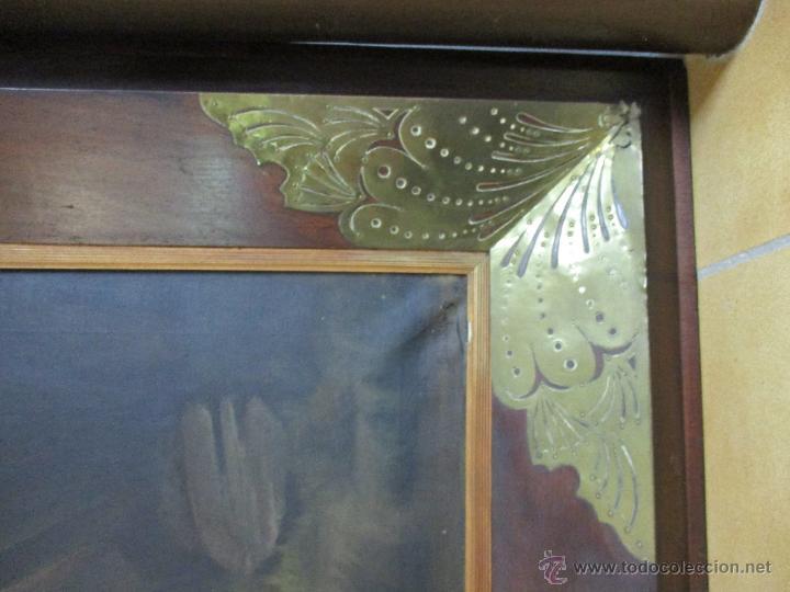 Arte: Impresionante Óleo sobre tela - con espectacular marco - Copia de Urgell, de J. de Sitgar - 1910 - Foto 10 - 55100313