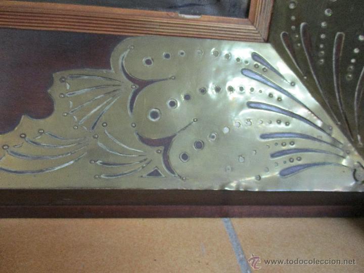 Arte: Impresionante Óleo sobre tela - con espectacular marco - Copia de Urgell, de J. de Sitgar - 1910 - Foto 11 - 55100313