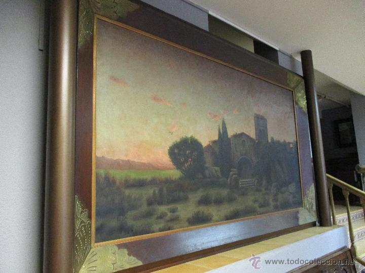 Arte: Impresionante Óleo sobre tela - con espectacular marco - Copia de Urgell, de J. de Sitgar - 1910 - Foto 13 - 55100313