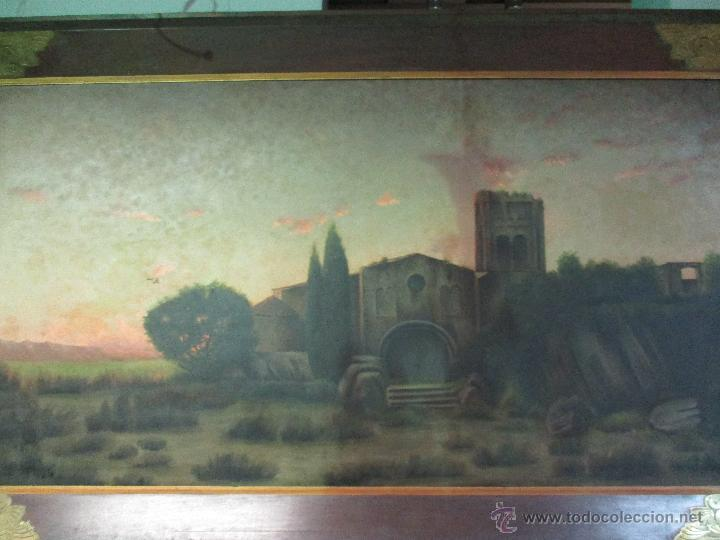Arte: Impresionante Óleo sobre tela - con espectacular marco - Copia de Urgell, de J. de Sitgar - 1910 - Foto 14 - 55100313