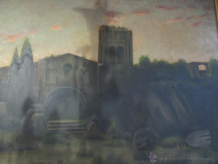 Arte: Impresionante Óleo sobre tela - con espectacular marco - Copia de Urgell, de J. de Sitgar - 1910 - Foto 15 - 55100313