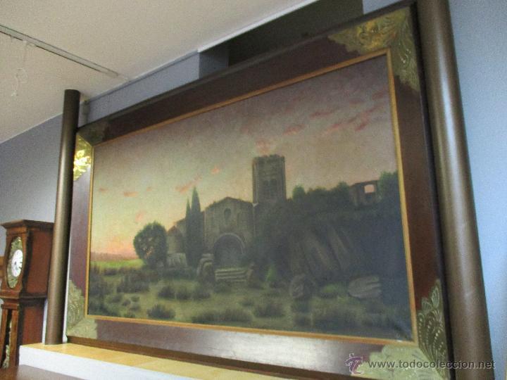 Arte: Impresionante Óleo sobre tela - con espectacular marco - Copia de Urgell, de J. de Sitgar - 1910 - Foto 16 - 55100313