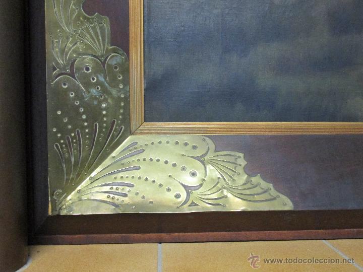 Arte: Impresionante Óleo sobre tela - con espectacular marco - Copia de Urgell, de J. de Sitgar - 1910 - Foto 17 - 55100313