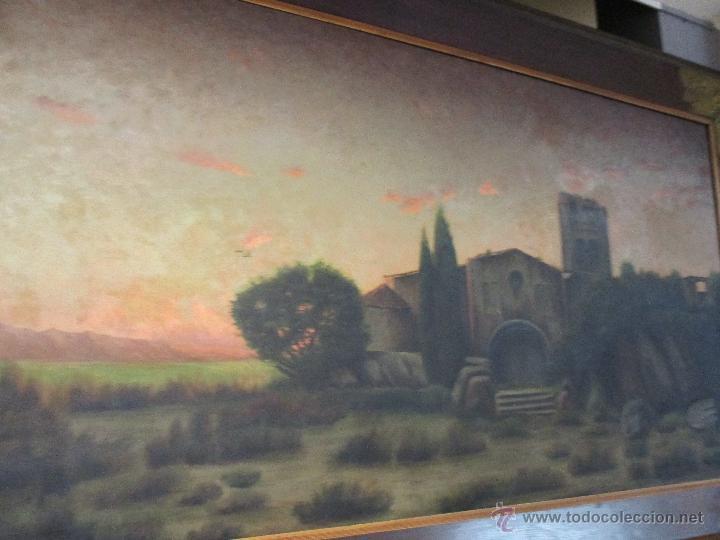 Arte: Impresionante Óleo sobre tela - con espectacular marco - Copia de Urgell, de J. de Sitgar - 1910 - Foto 19 - 55100313