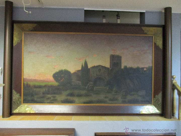 Arte: Impresionante Óleo sobre tela - con espectacular marco - Copia de Urgell, de J. de Sitgar - 1910 - Foto 20 - 55100313