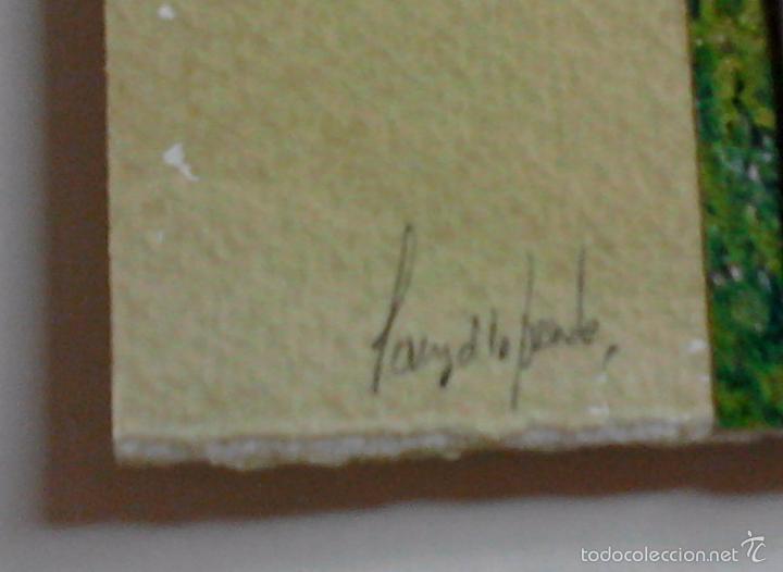 Arte: Pintura SANZ de la FUENTE. BURGOS Collage de pintura, fotografía y plomo. 24 x 25 cm. - Foto 5 - 55144840