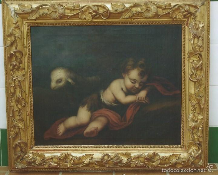 OLEO ESCUELA ANDALUZA SIGLO XIX SIGUIENDO A MURILLO. SEVILLA (Arte - Pintura - Pintura al Óleo Moderna siglo XIX)